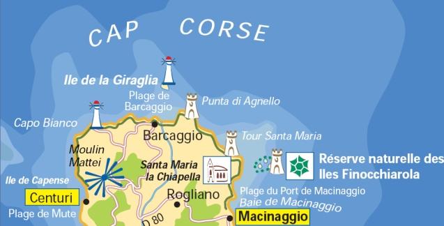 Carte Cap Corse Pointe
